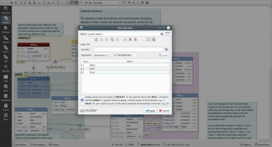 Need to populate a table after its creation? Do it easily via data editing dialog